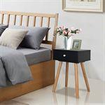 vidaXL Nachtkastjes 40x30x61 cm massief grenenhout zwart 2 st