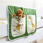 Ticaa Kindermöbel TiCAA Bedtas voor hoogslapers en stapelbedden Safari groen-beige