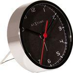NeXtime company alarm tafelklok 9 cm - zwart