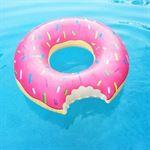 Rebl Grote opblaasbare roze donut zwemband - 118 CM