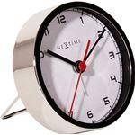 NeXtime company alarm tafelklok/wekker 9 cm - wit