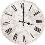 Clayre & Eef Klok Wereld wandklok 34cm landkaart klok wereldkaart klok Vintage