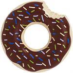 qMust Zwembad luchtbed 120cm - Bruine Donut bruine donut
