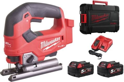 Milwaukee M18 FJS-502X 18V Li-Ion accu Decoupeerzaagmachine set 2x 5.0Ah accu in HD-Box - koolborstelloos