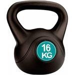 Avento Kettle Bell Plastic/Cement - 16 Kg - Zwart/Groen