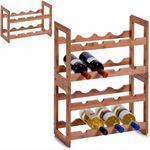 Zeller Present Houten wijnrek voor 8 flessen stapelbaar