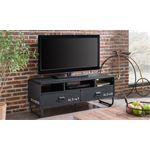 vdd TV meubel TV kast Brock industrieel retro design zwart