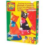 SES Pakket Gips Gieten Katjes – 20x15x4cm Creatief Gipsen Poezen Gietvormen voor het maken van Gipsen Beelden