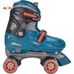 Nijdam Junior Rolschaatsen Junior Verstelbaar Hardboot - Blauw - Maat 34-37