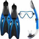#DoYourSwimming - Snorkelset - »Mermaid« - duikbril + zwemvliezen / flippers zwemvinnen + snorkel - EU 45-47 - blauw