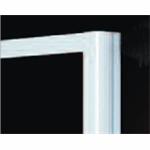 Plieger class zijwand 3mm glas 86/90x185cm aluminium