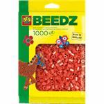 ses strijkkralen : 1000 stuks rood 00702