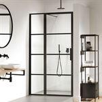 Sealskin Soho 2-delige deur linker versie voor nis of zijwand 120x210cm zwart-helder glas KB171206195100