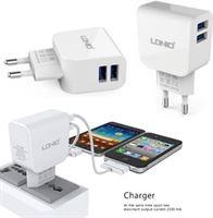 LDNIO AC56 2 poorten Oplader 2.1A met Type C USB Kabel geschikt voor o.a Wileyfox Swift 2 2X Plus