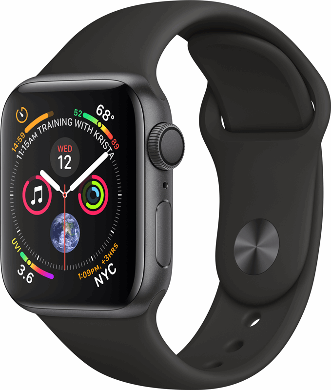 Apple Watch Series 4 zwart, grijs / S|L