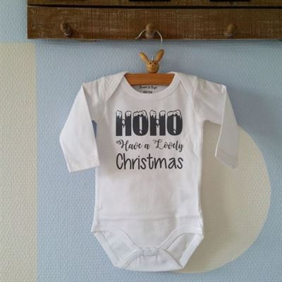 Maison Marcella Rompertje Baby Unisex Hohoho Have A Lovely Christmas