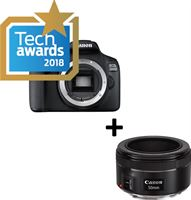 Canon EOS 2000D + EF-S 18-55 IS II + EF 50mm