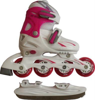0687ff43ae0 Schreuders Sport Skate / Schaats Combo - Junior - Roze - Maat 30-33