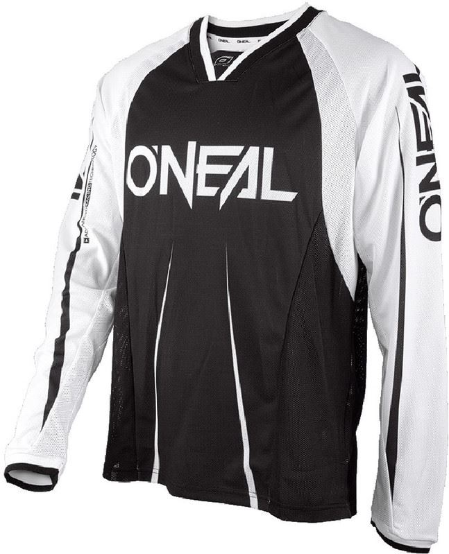 O'Neal Element FR Fietsshirt lange mouwen Heren Blocker wit/zwart