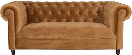 Dutchbone Chester Bank Polyester 186 x 94 cm - Velvet Golden Brown