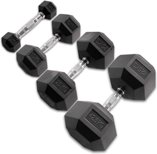 Body-Solid Hexagon Rubber Dumbbell 1 KG / Paar