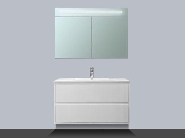 Saniclass new future badmeubel cm hoogglans wit met spiegelkast