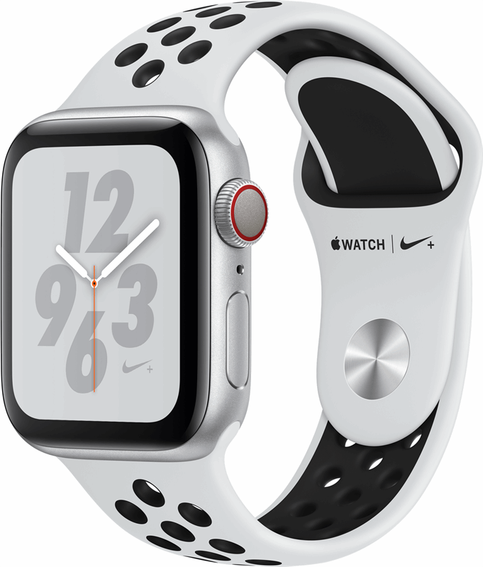 Apple Watch Nike+ 4 Nike+ Series 4 zwart, grijs / S|L