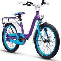 s'cool niXe 18 kinderfiets Kinderen alloy violet/blauw