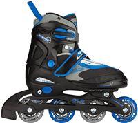 Nijdam Skates Verstelbaar Semi Soft type 52 SE zwart blauw grijs