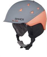 Sinner Stoneham - Skihelm - Volwassenen - 61-62 cm / XL - Grijs/Oranje