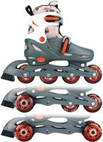 Nijdam Inline Skates Quad Grijs Maat 27 - 30