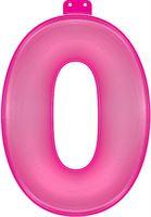 funtext Opblaasbaar Cijfer 0 roze