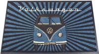 Brisa Nostalgic Art Deurmat VW T1 Bus - Samba Strips petrol