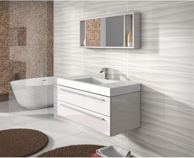 Hoogglans Witte Kast : Badplaats badkamermeubel rome 100cm hoogglans wit kast met