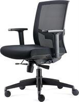 Bens 818. Luxe bureaustoel. Ergonomische en erg comfortabel. Zwart