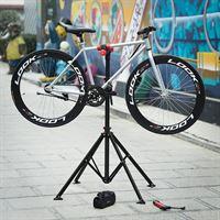 Songmics   Sterke Fiets montagestandaard met gereedschapsbakje   360° Draaibare / Verstelbare reparatie standaard   Universele fietsstandaard   Lichtgewicht en eenvoudig draagbaar
