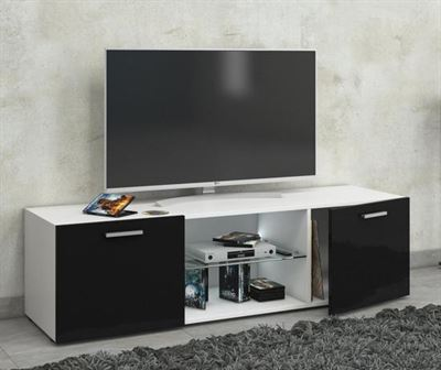 Tv Meubel Zwart Hoogglans.Vcm Tv Meubel Kast Lowina 115 Cm Premium Body Hoogglans Wit Deuren