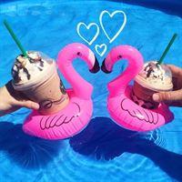 Swim Essentials Opblaasbare Flamingo Bekerhouders 3st