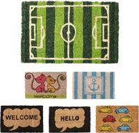 Relaxdays deurmat Mini 40x25 kokosmat klein verschillende motieven voetmat