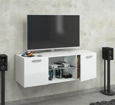 Zwevende Tv Kast Kopen.Vcm Hangend Zwevend Tv Meubel Jusa Premium Hoogglans Wit Kast
