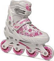 Roces Inline Skates Compy 8.0 Meisjes Wit/roze Maat 38-41