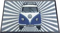Brisa Nostalgic Art Deurmat VW T1 Bus - Samba Strips blauw