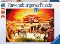 Ravensburger puzzel Trotse Masai 3000 stukjes