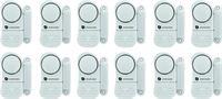 Smartwares set van 12 compacte magnetische alarmsystemen voor deuren ramen etc