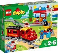lego DUPLO Stoomtrein - 10874 Duwen en rijden maar: zo eenvoudig speel je met de stoomtrein