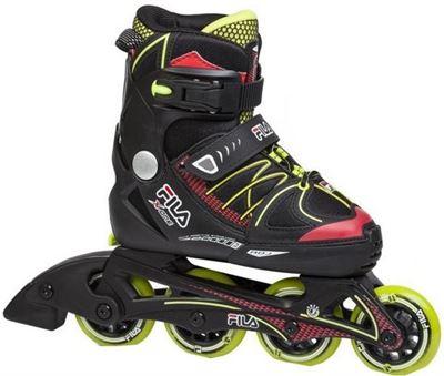b9b81e537dcf Fila Inline Skates X One Boy Verstelbaar Zwart groen Maat 38 41