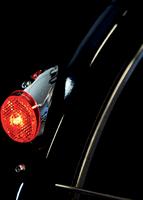 Spanninga no.9 - Fietsachterlicht - Led - XB 2x AAA Batterij - Chrome Retro