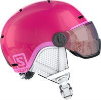 Salomon Grom Visor Ski helm Junior Skihelm Unisex Kinderen roze