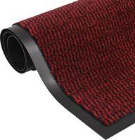 vidaXL Droogloopmat rechthoekig getuft 40x60 cm rood