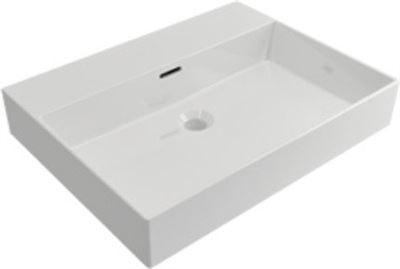 Plieger kansas wastafel zonder kraangat met overloop cm wit